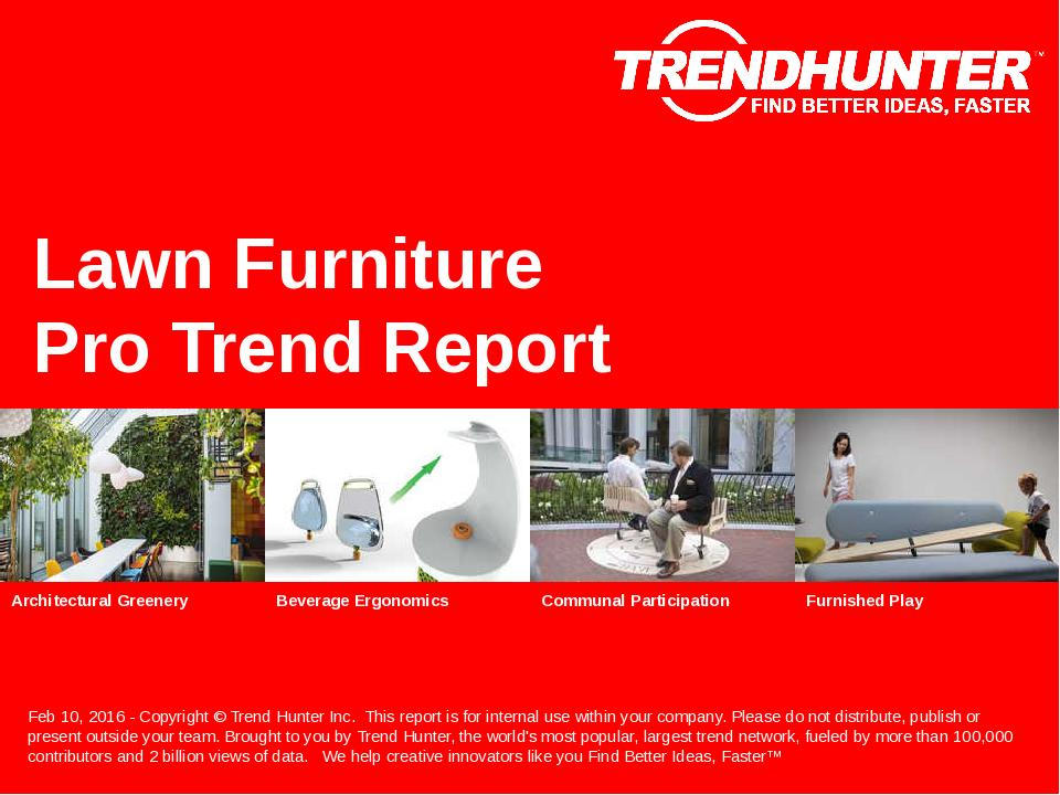 Lawn Furniture Trend Report Research