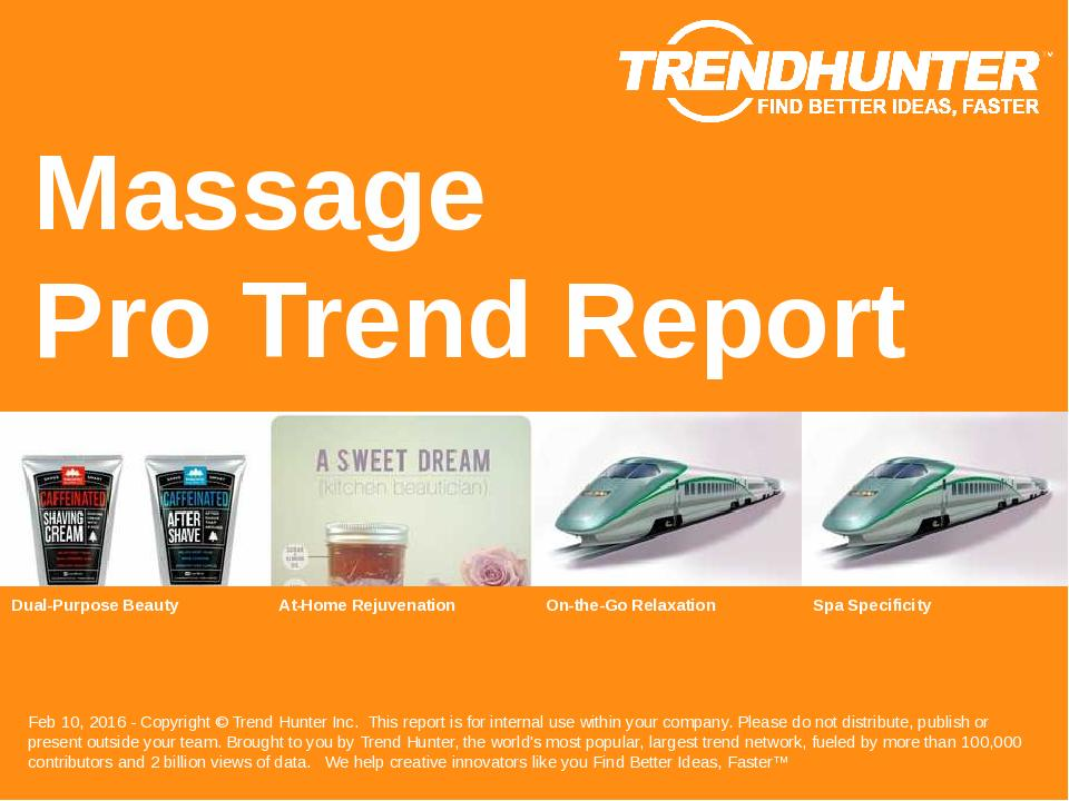 Massage Trend Report Research