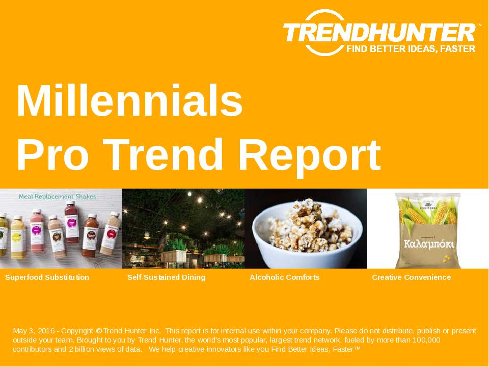 Millennials Trend Report Research