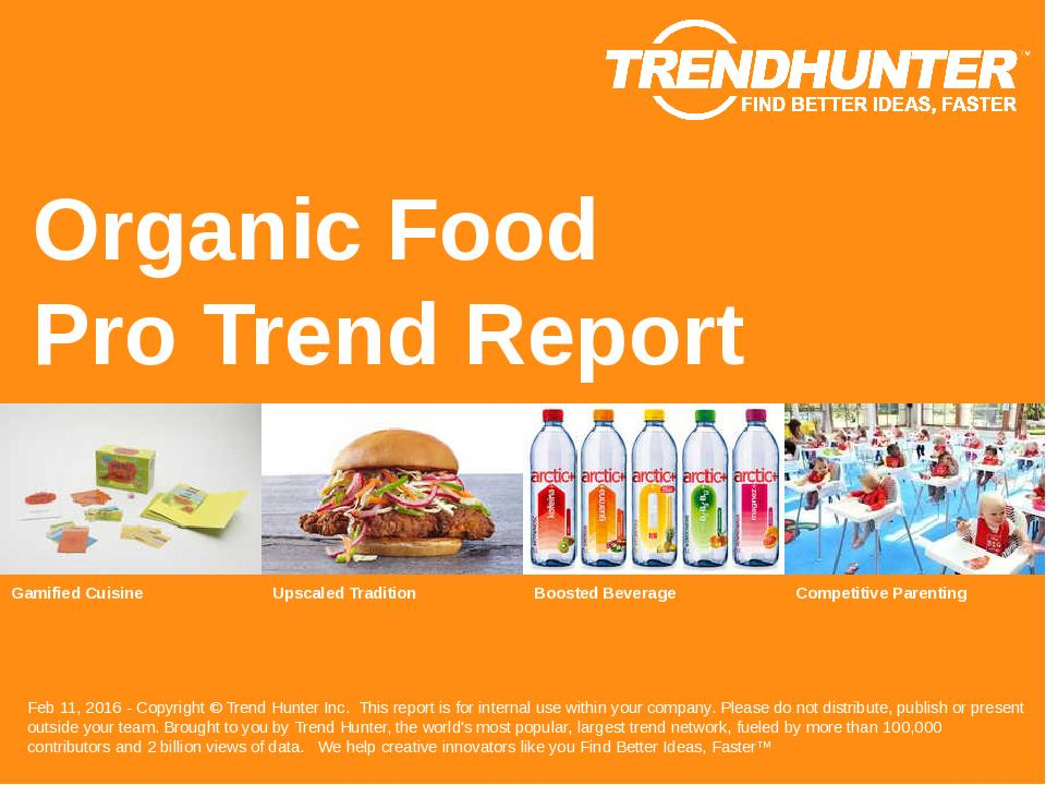 Organic Food Trend Report Research