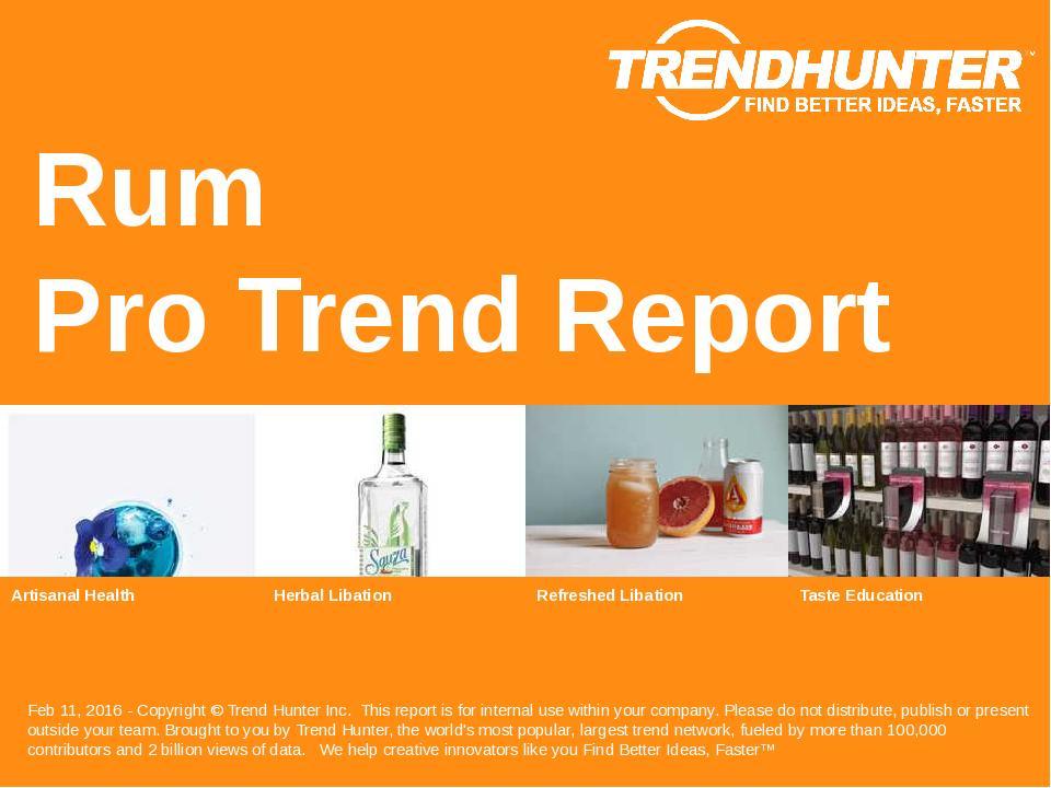Rum Trend Report Research