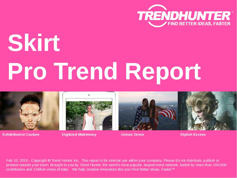 Skirt Trend Report Research
