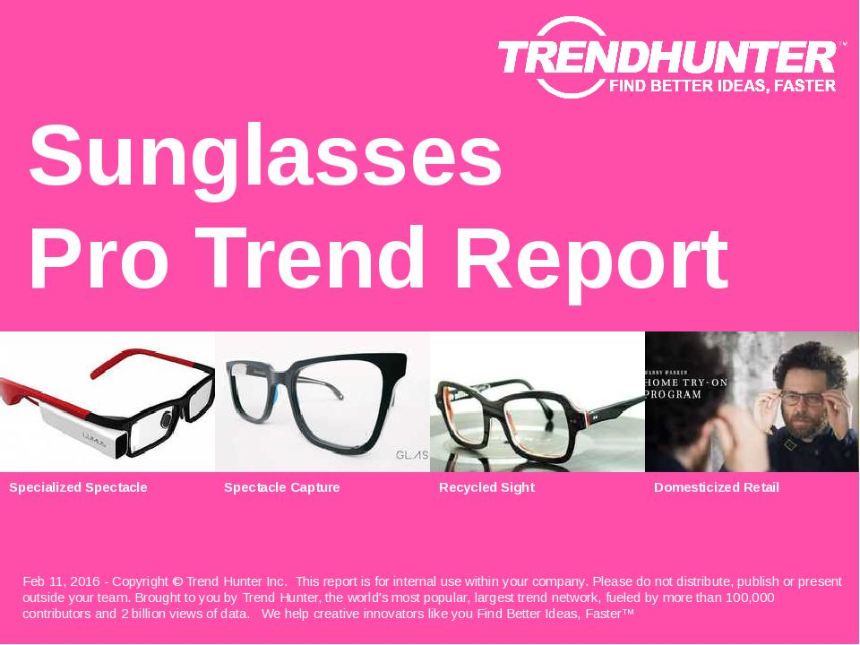 Sunglasses Trend Report Research