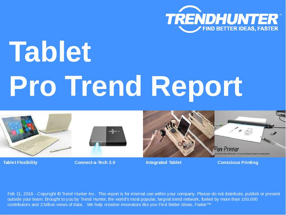 Tablet Trend Report Research