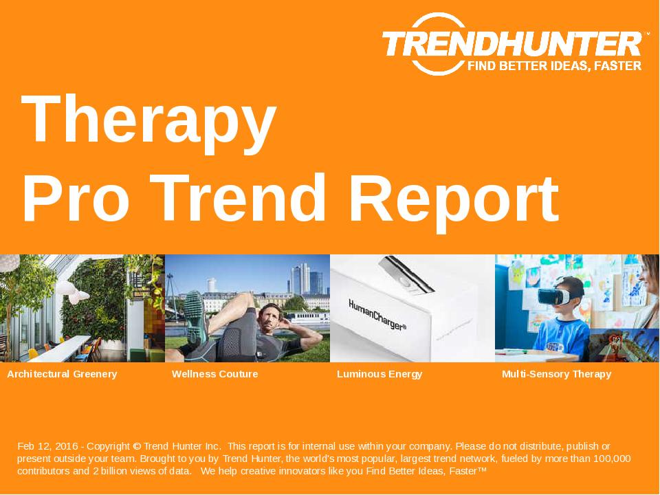 Therapy Trend Report Research