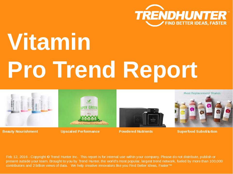 Vitamin Trend Report Research
