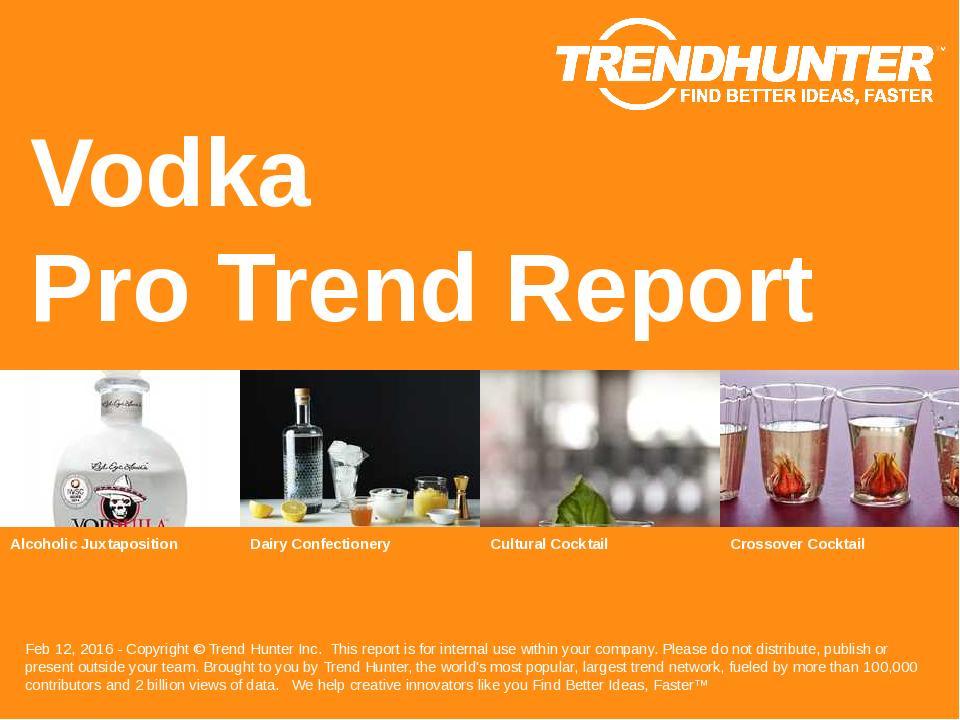 Vodka Trend Report Research