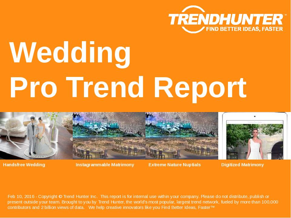 Wedding Trend Report Research