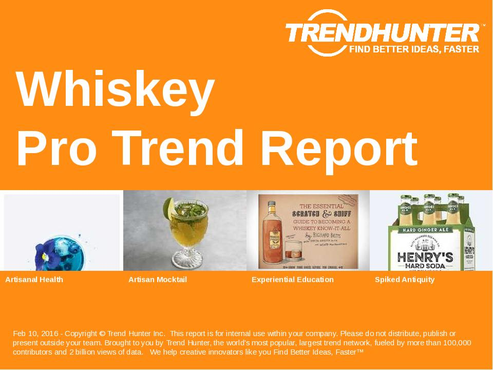 Whiskey Trend Report Research