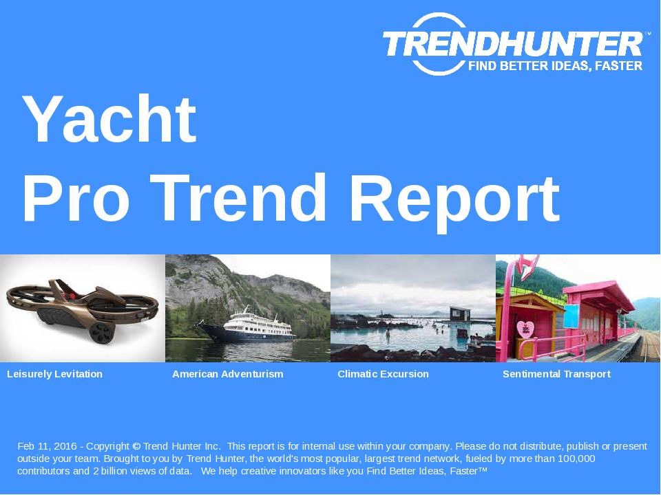 Yacht Trend Report Research