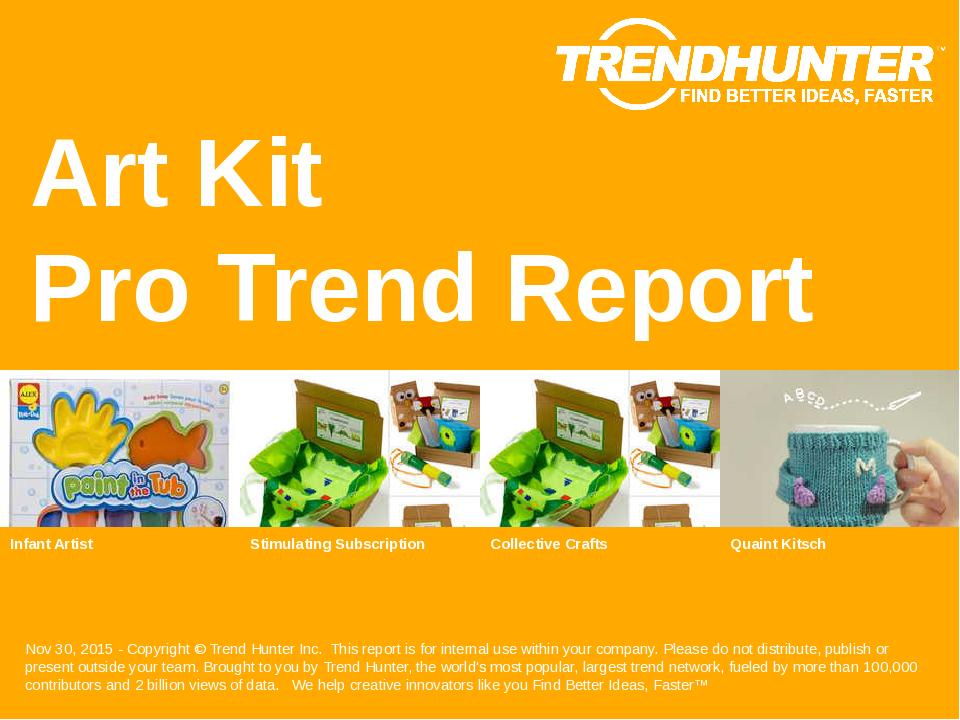 Art Kit Trend Report Research