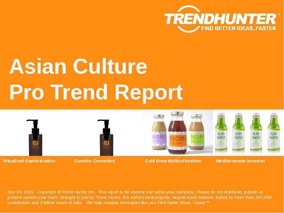Asian Culture Trend Report Research