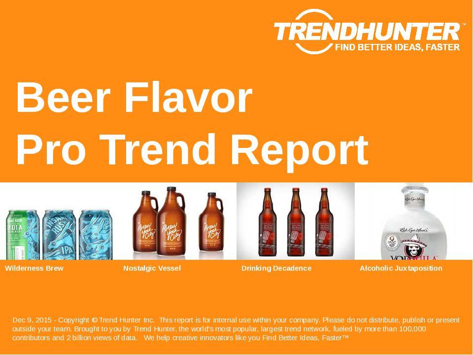 Beer Flavor Trend Report Research