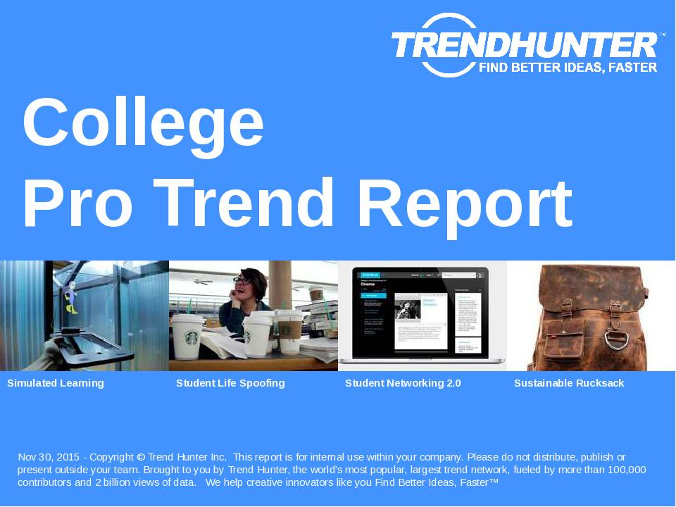College Trend Report Research