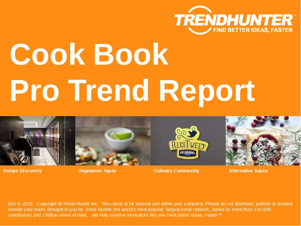 Cook Book Trend Report Research