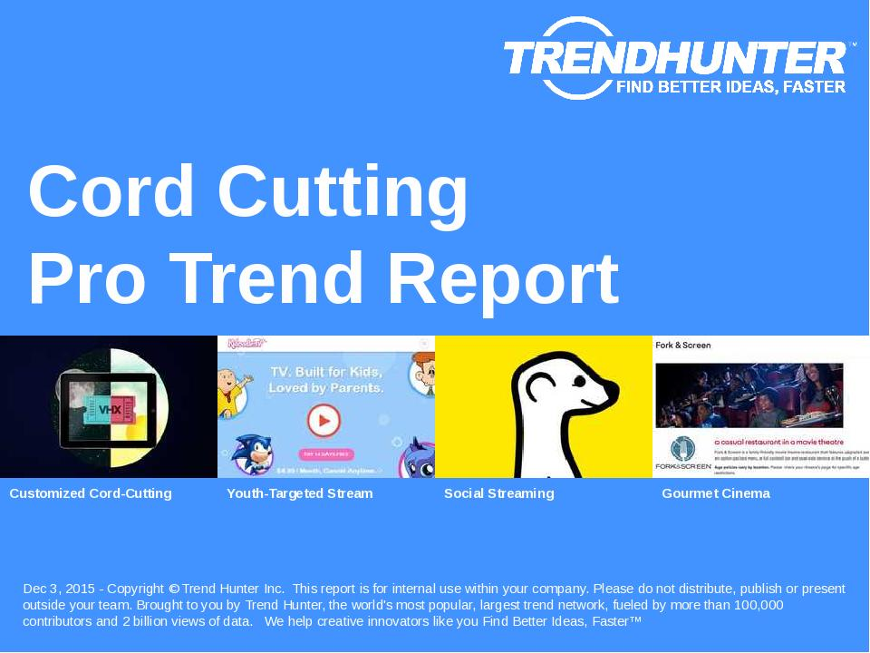Cord-Cutting Trend Report Research