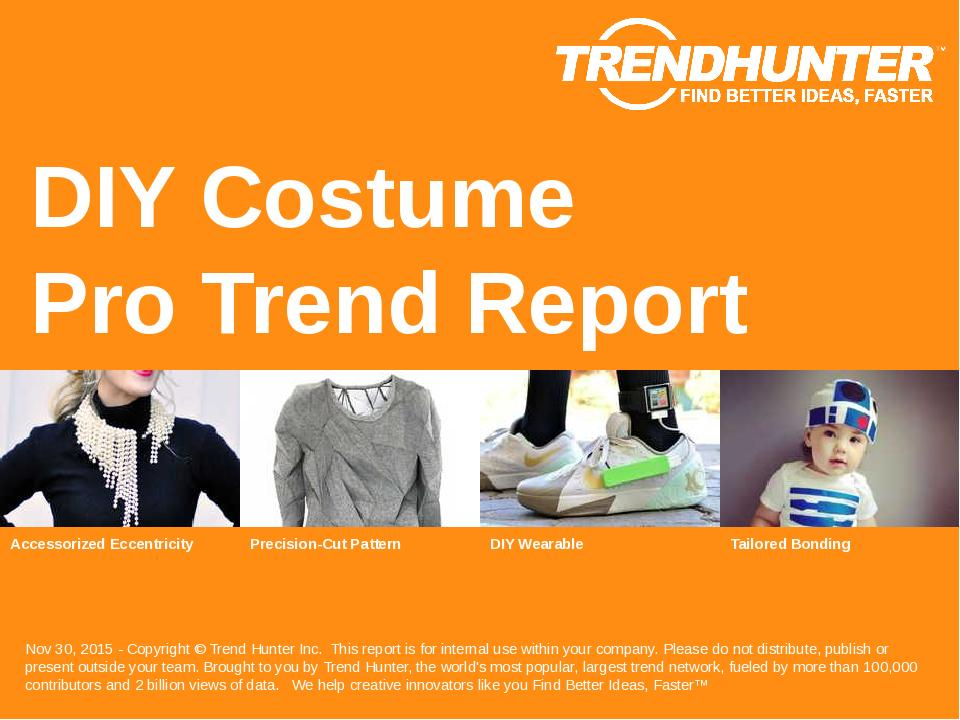 DIY Costume Trend Report Research