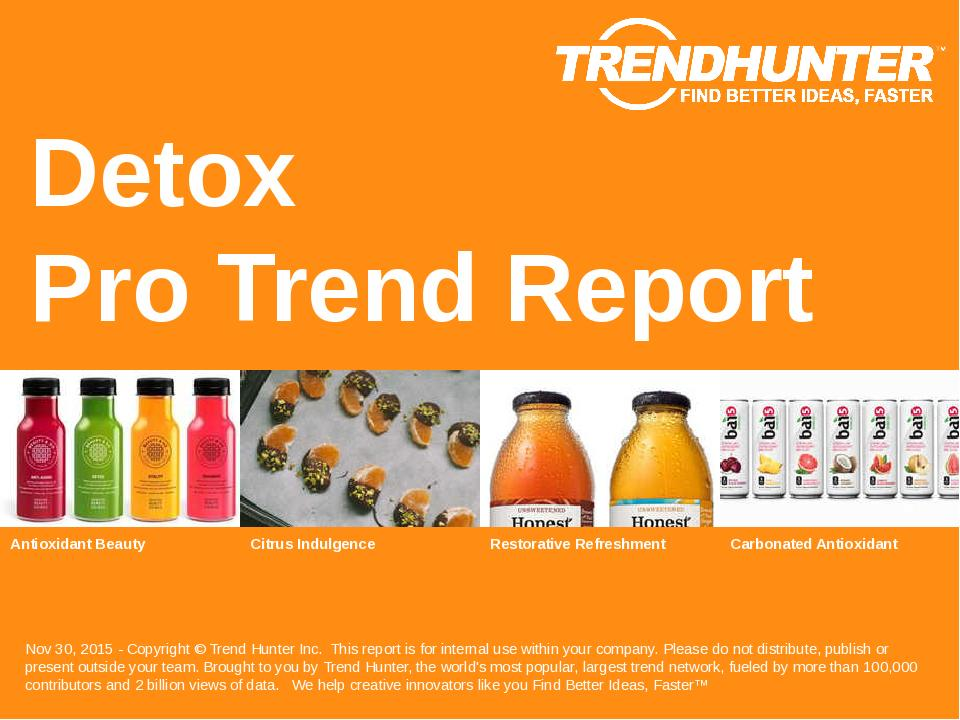 Detox Trend Report Research