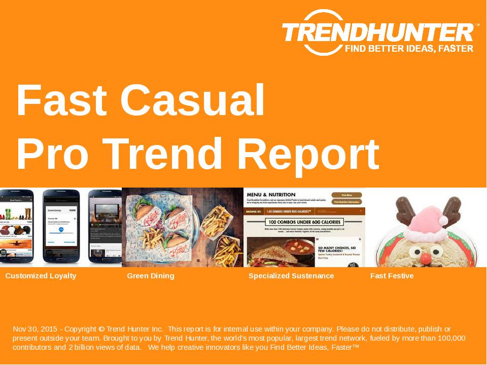 Fast Casual Trend Report Research