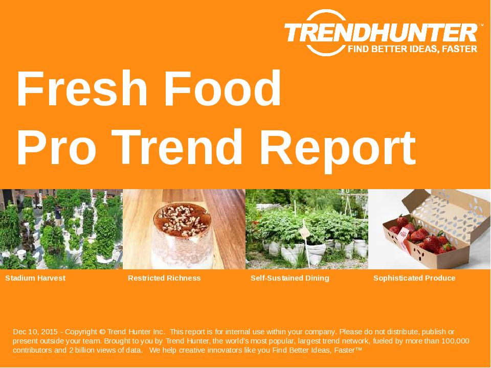 Fresh Food Trend Report Research