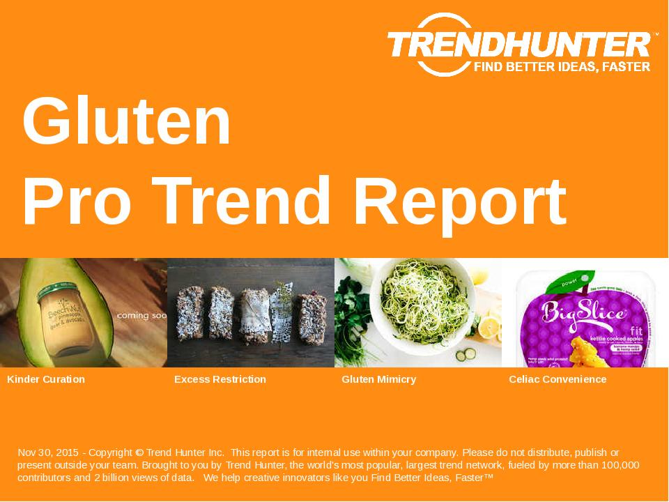 Gluten Trend Report Research