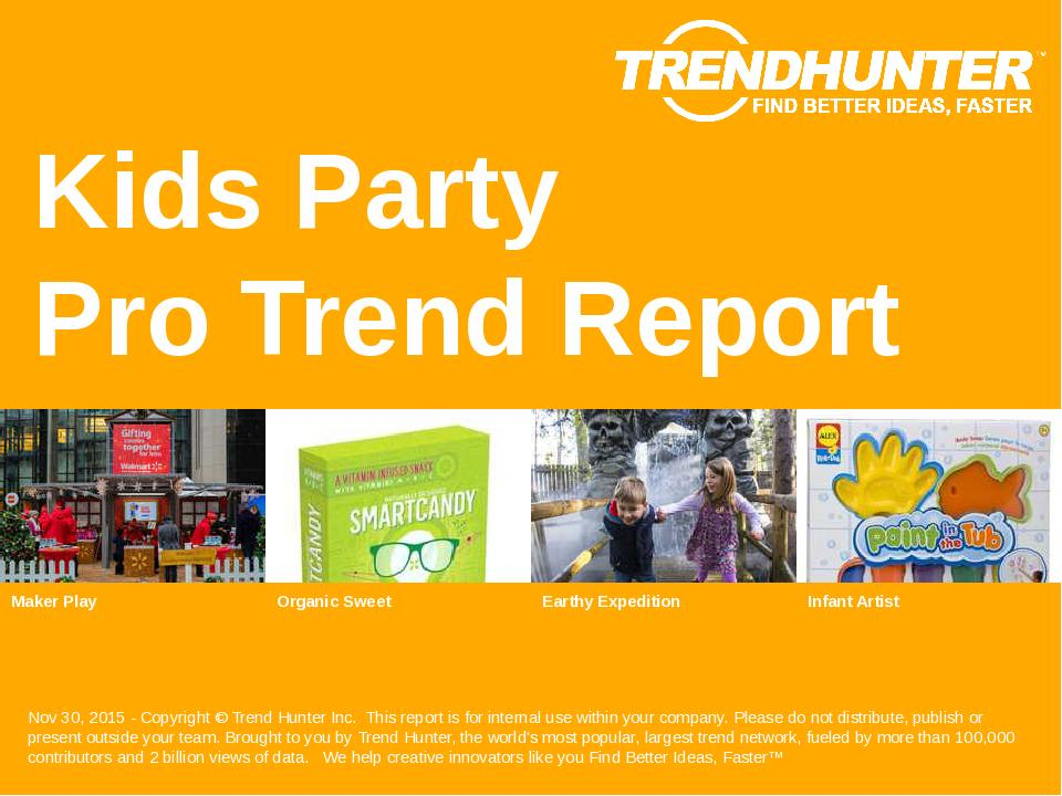 Kids Party Trend Report Research