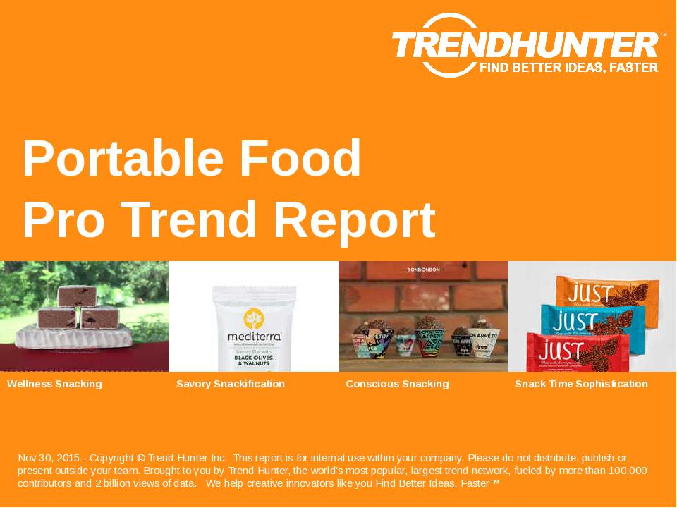 Portable Food Trend Report Research