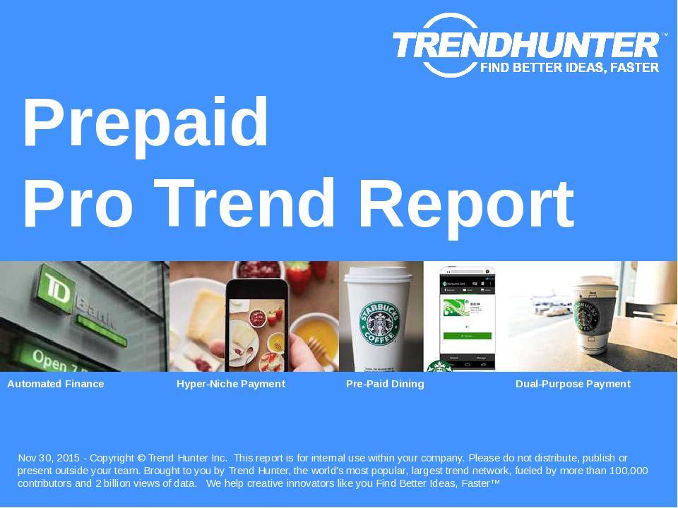 Prepaid Trend Report Research