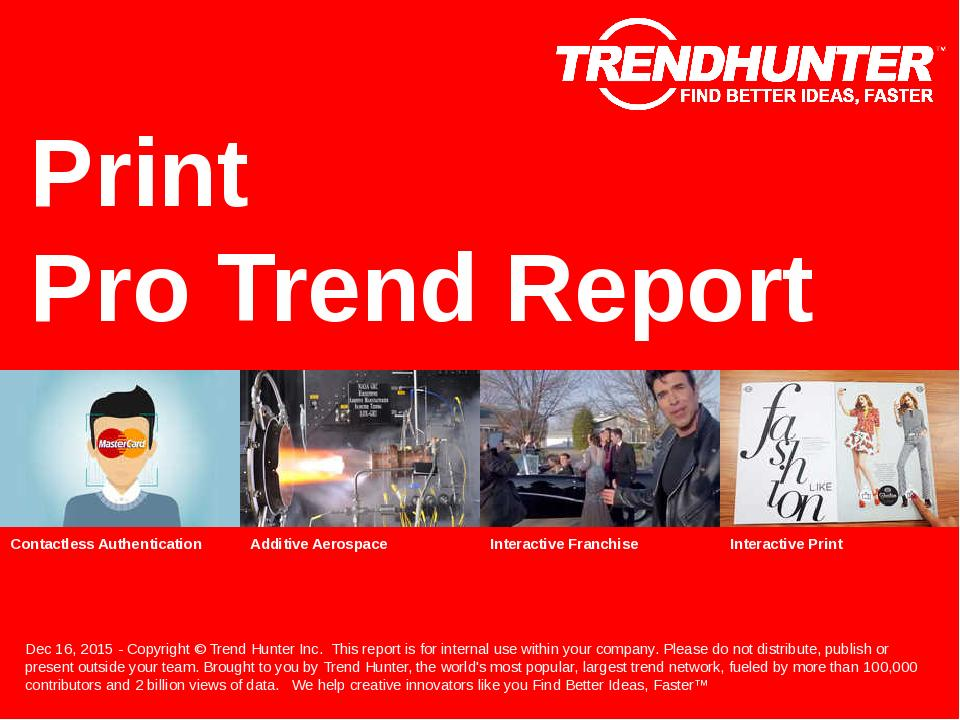 Print Trend Report Research