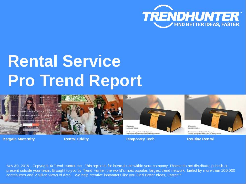 Rental Service Trend Report Research