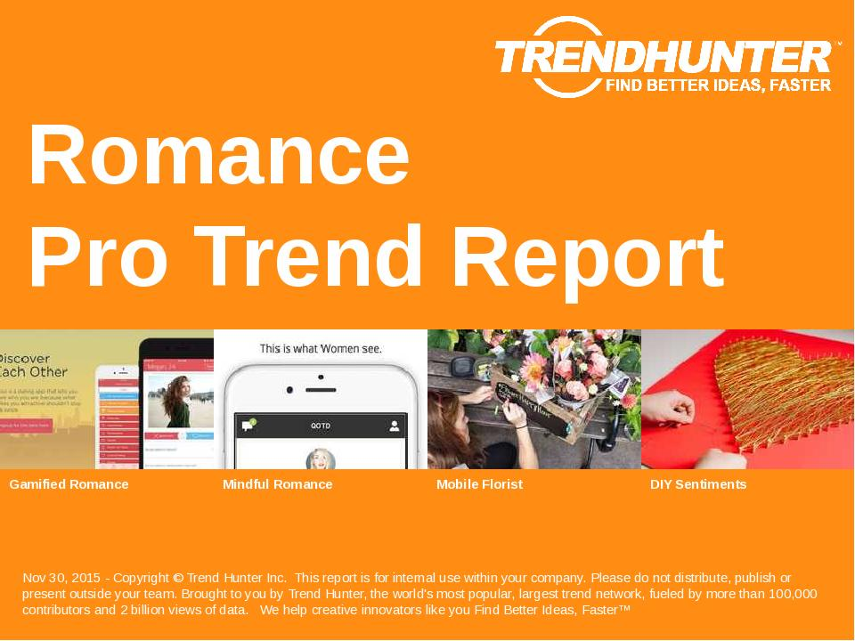 Romance Trend Report Research