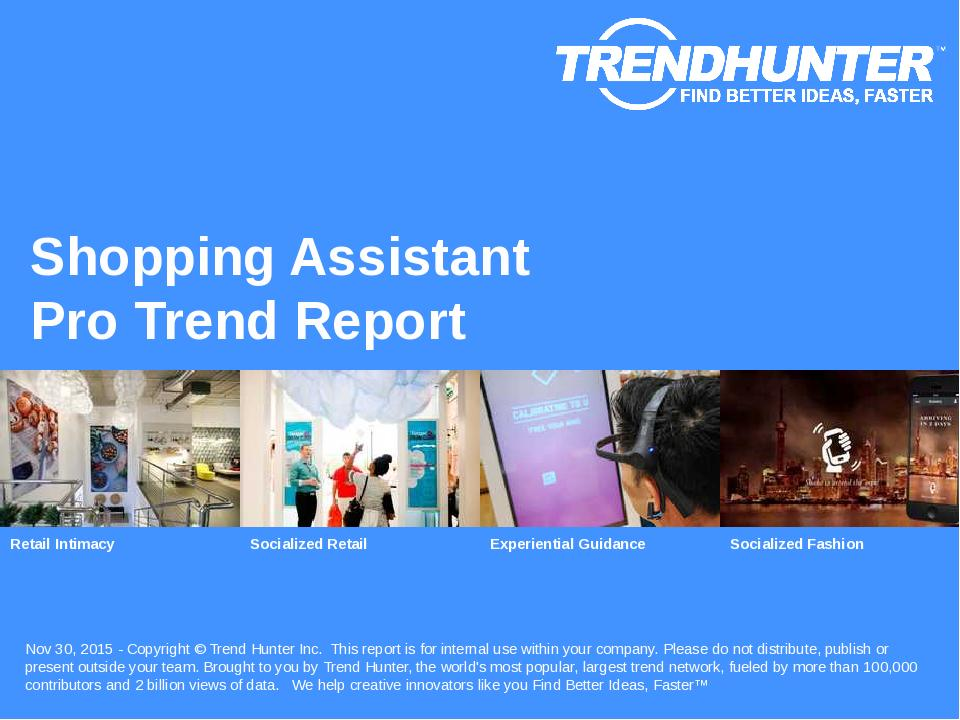 Shopping Assistant Trend Report Research