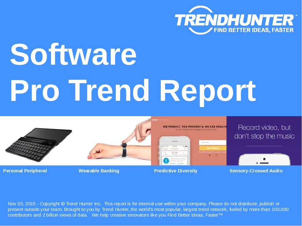 Software Trend Report Research