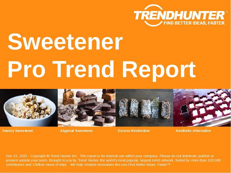 Sweetener Trend Report Research