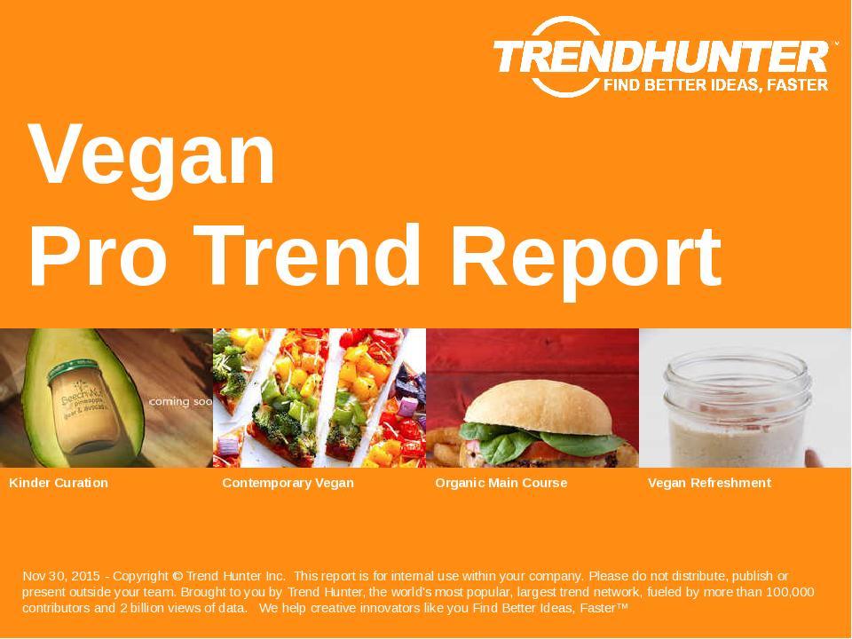Vegan Trend Report Research