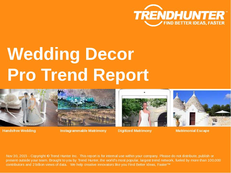 Wedding Decor Trend Report Research
