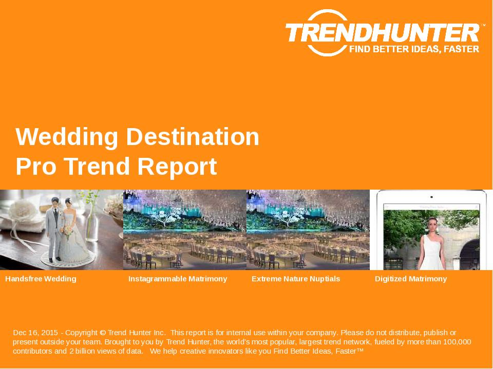Wedding Destination Trend Report Research