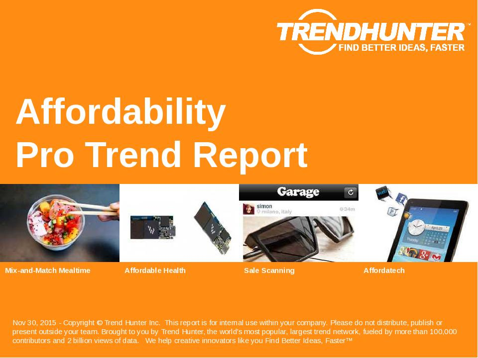Affordability Trend Report Research