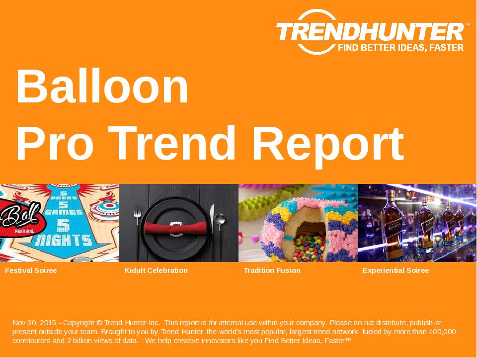 Balloon Trend Report Research