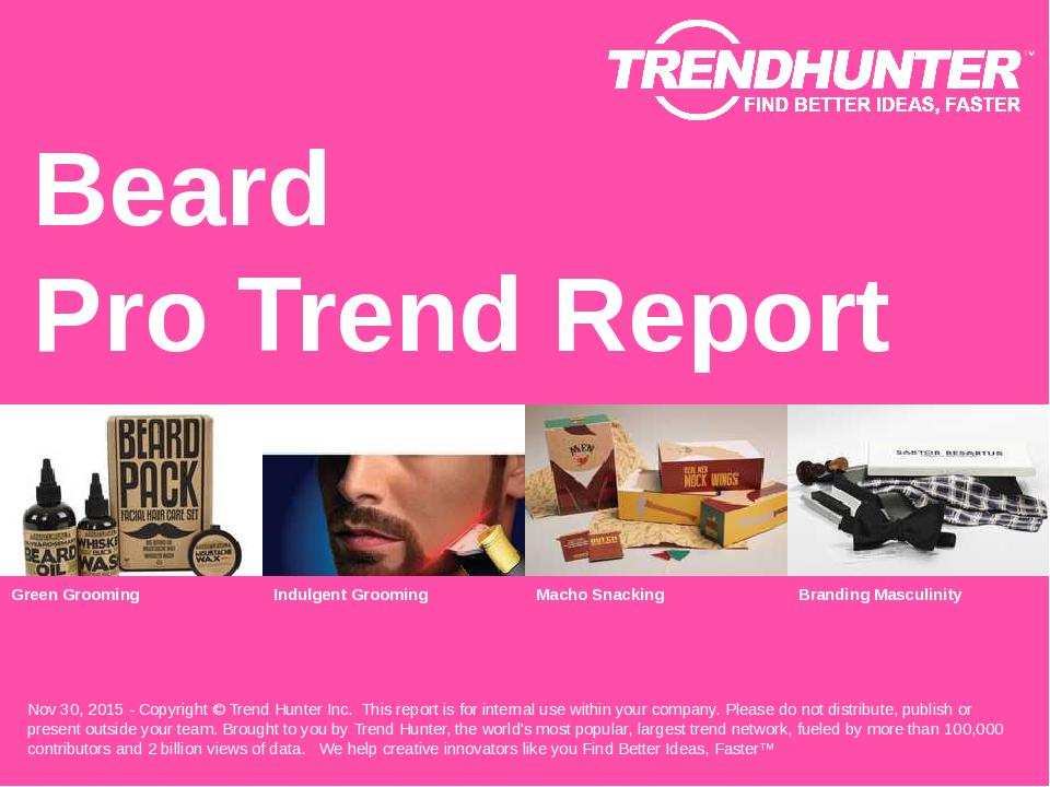 Beard Trend Report Research
