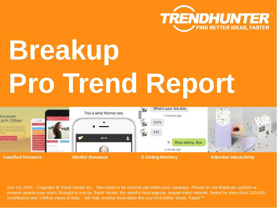 Breakup Trend Report Research