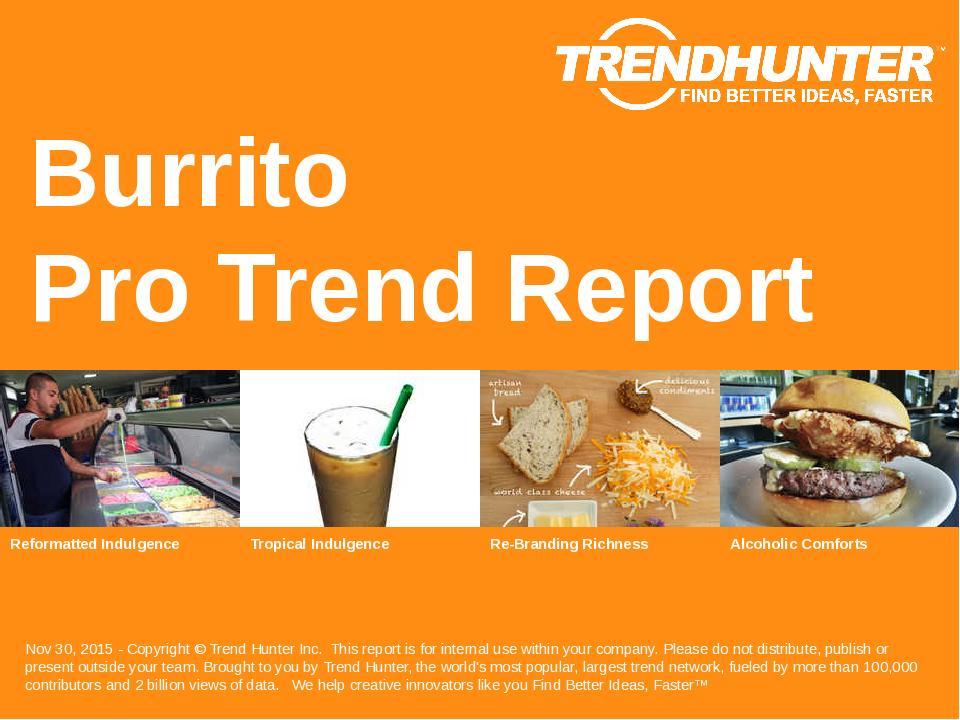 Burrito Trend Report Research