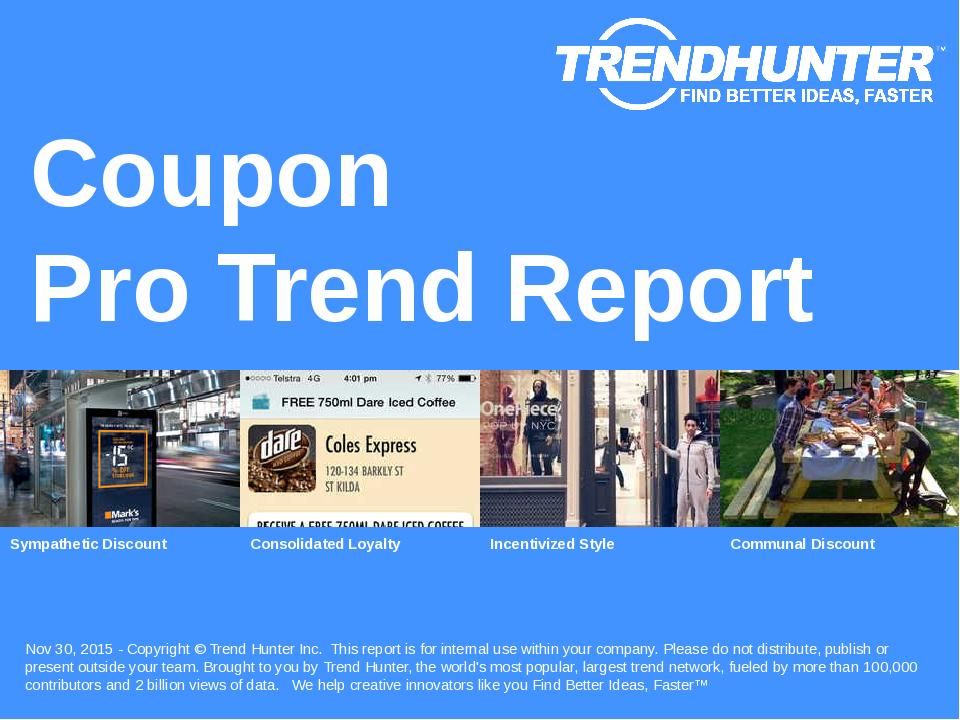 Coupon Trend Report Research