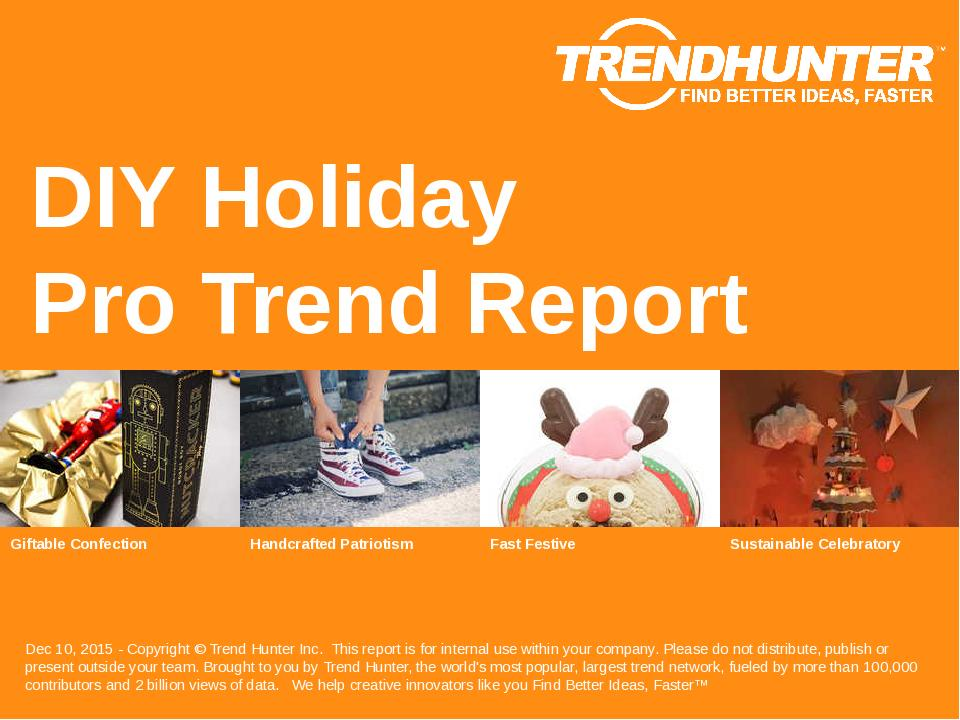 DIY Holiday Trend Report Research