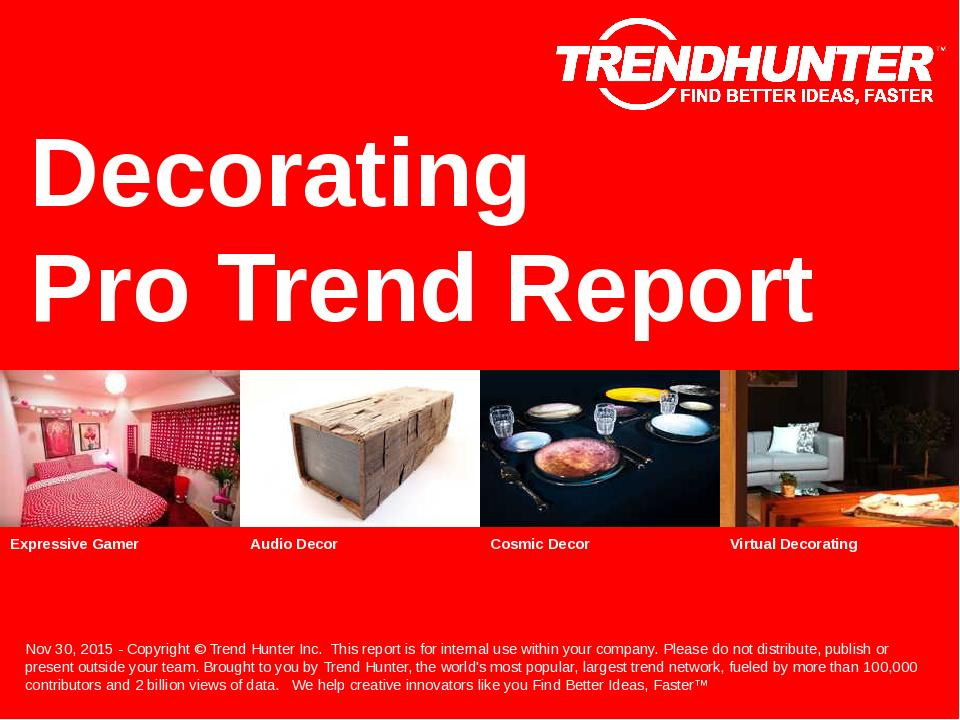 Decorating Trend Report Research