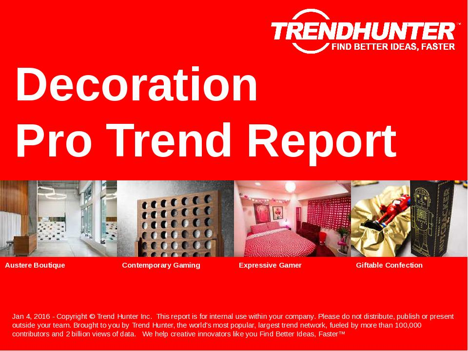 Decoration Trend Report Research