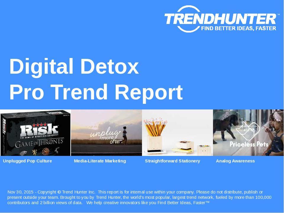Digital Detox Trend Report Research
