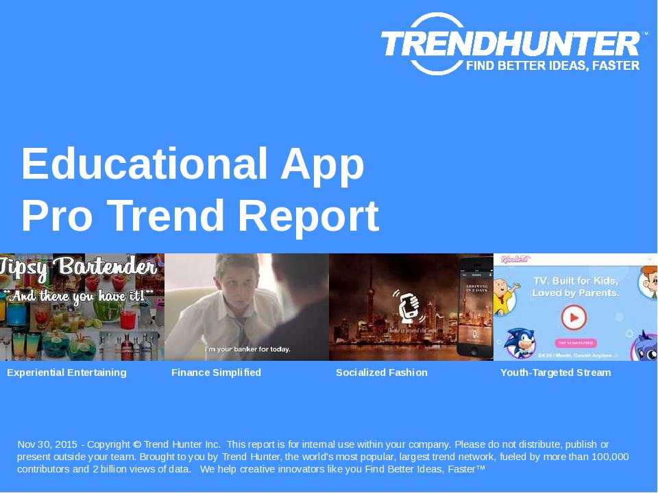 Educational App Trend Report Research
