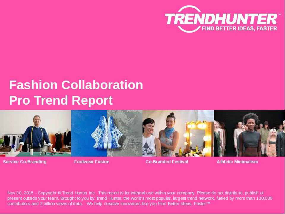 Fashion Collaboration Trend Report Research