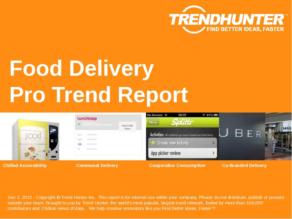 Food Delivery Trend Report Research